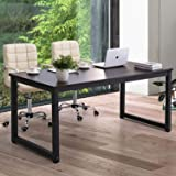 """Modern Computer Desk 63"""" Large Office Desk Writing Study Table for Home Office Desk Workstation Wide Metal Sturdy Frame Thick"""