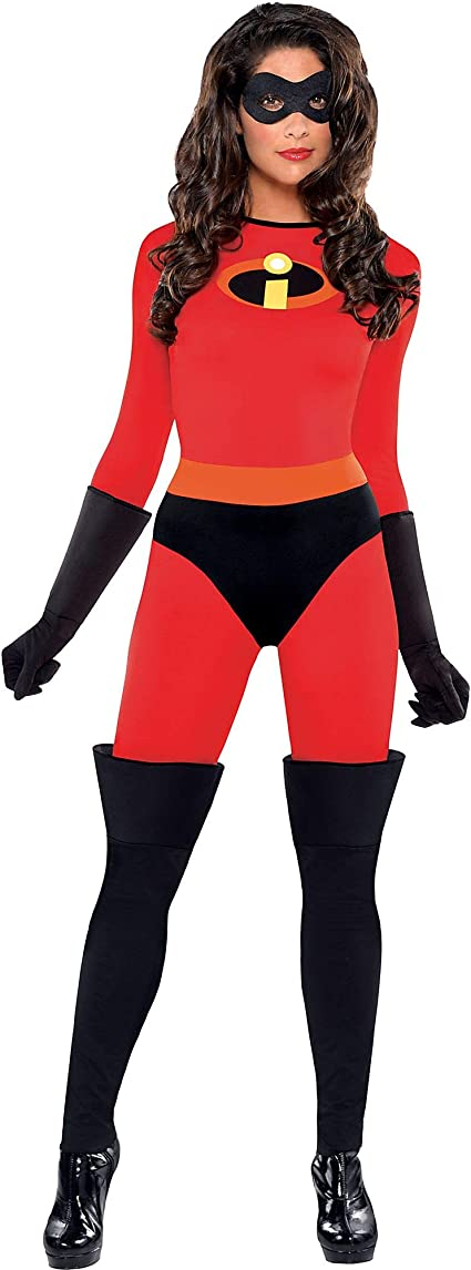 Party City, Mrs. Incredible Halloween Costume for Women, Disney, The Incredibles, Small, with Accessories