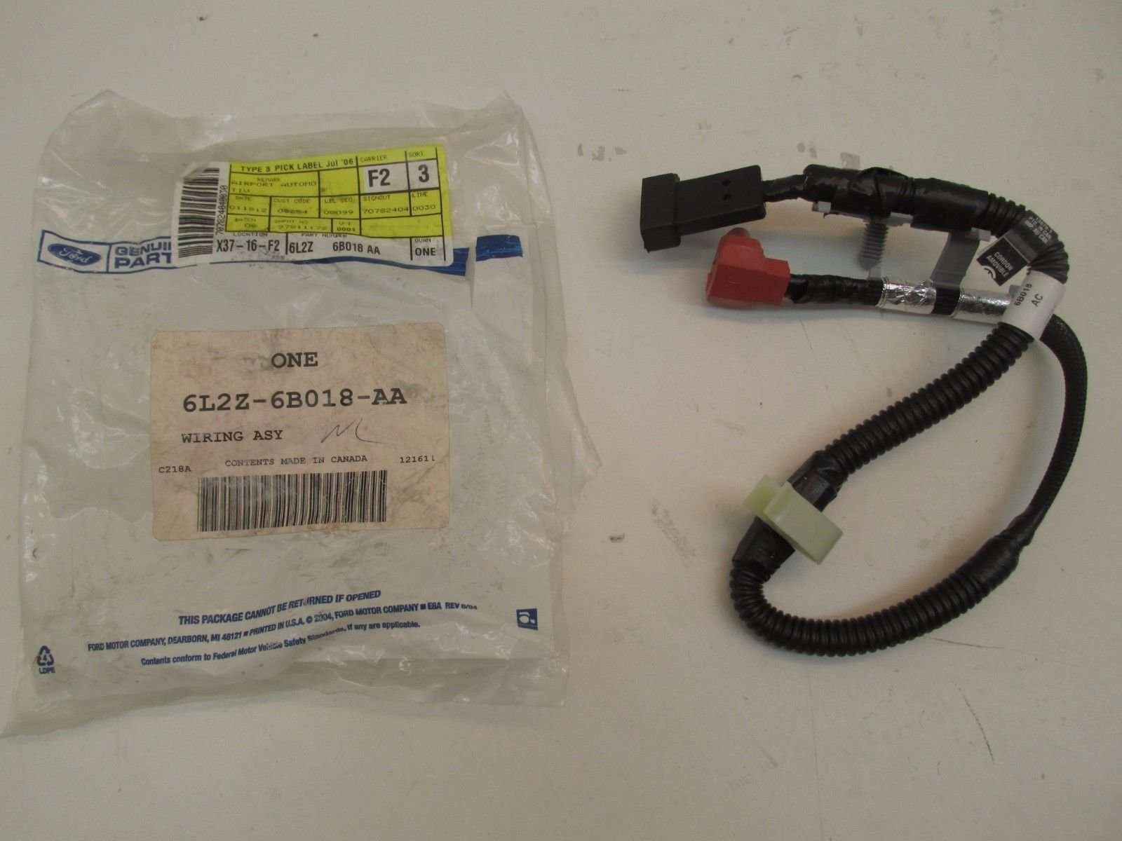Ford 6L2Z-6B018-AA - WIRE ASY