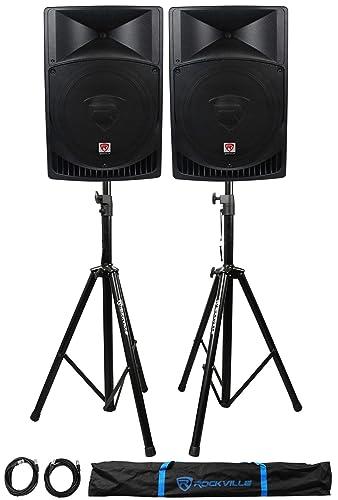 Pair Rockville RPG15 Powered Speakers Review