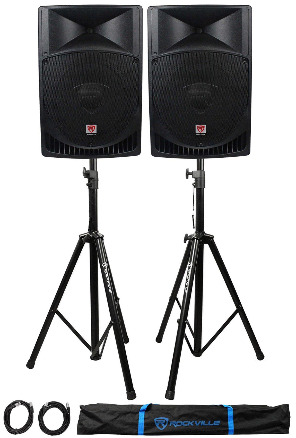 Rockville RPG15 15'' Professional Powered Active 1,000 Watt 2-Way DJ PA Speaker