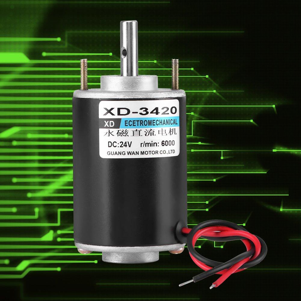 High Torque DC Motor 12V 3000RPM Permanent Magnet Motor High Speed CW/CCW  (24V DC 6000RPM)
