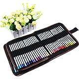 XCSOURCE Canvas Pencil Wrap 72 Slots Colored Pencil Case Roll Holder Multi-purpose Pouch for School ArtSoft Travel TH268