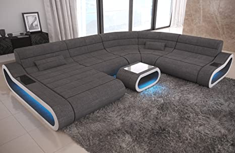 Big Sofa Concept U Form Stoff Mix XXL: Amazon.de: Küche ...