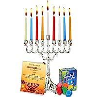 Hanukkah Essentials Juego Completo de Hanukkah Menorah. menorá–Velas–Dreidels–Vela