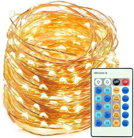 Catene Luminose TaoTronics 20M da 2 Pezzi Stringa Luci LED Impermeabile IP65 da 20 metri con Livello di Luminosit/à 200 per Uso Interno ed Esterno per Decorazioni Festive e Natale