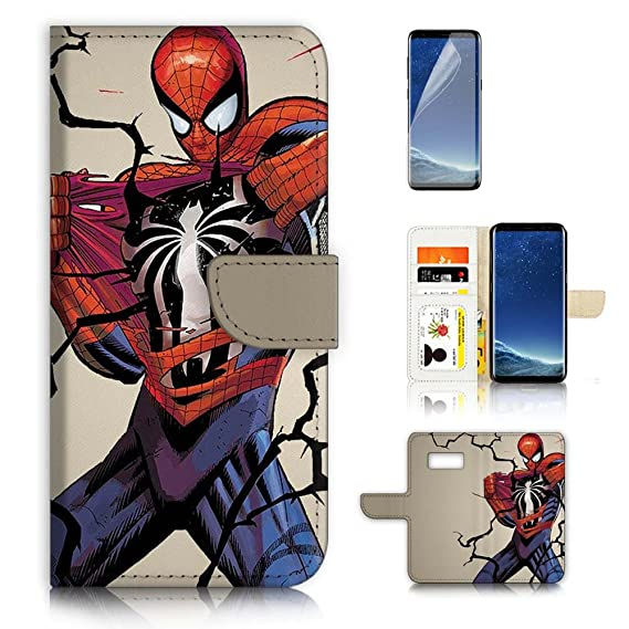 buy popular f933d f4c19 Amazon.com: (For Samsung S8 Plus, Galaxy S8+) Wallet Case Cover ...