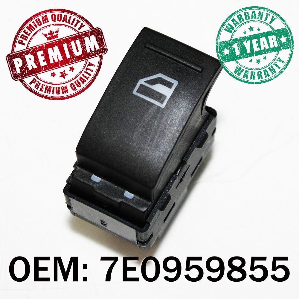 Black Window Switch Button Passenger Side Control 7E0959855
