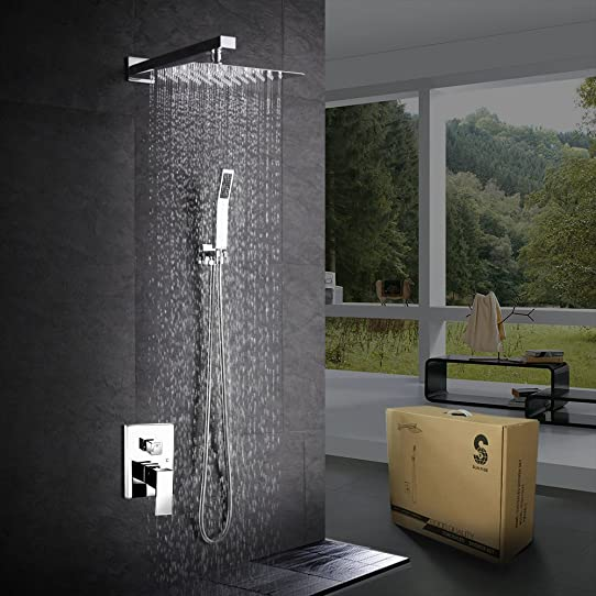 sr sun rise shower system ca f5043 bathroom luxury rain mixer shower combo set - Luxury Rain Showers