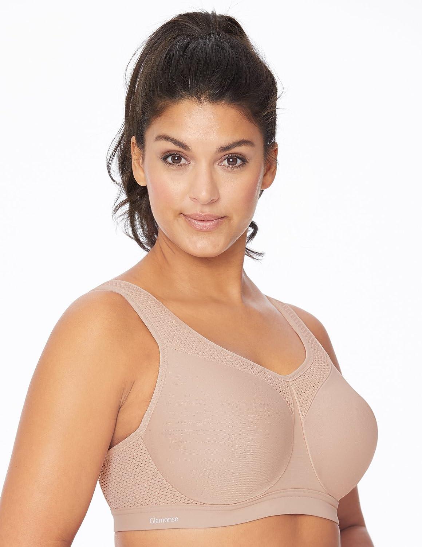 Glamorise Womens Full Figure High Impact Wonderwire Sports Bra #9066 Glamorise Women/'s IA