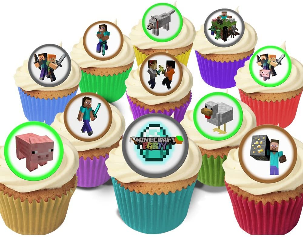 11 Fabulous Pre-Cut Edible Wafer Cake Toppers: Minecraft: Amazon