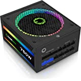 Power Supply 750W Fully Modular 80+ Gold Certified with Addressable RGB Light - Vairous Color Mode, GAMEMAX RGB750-Rainbow