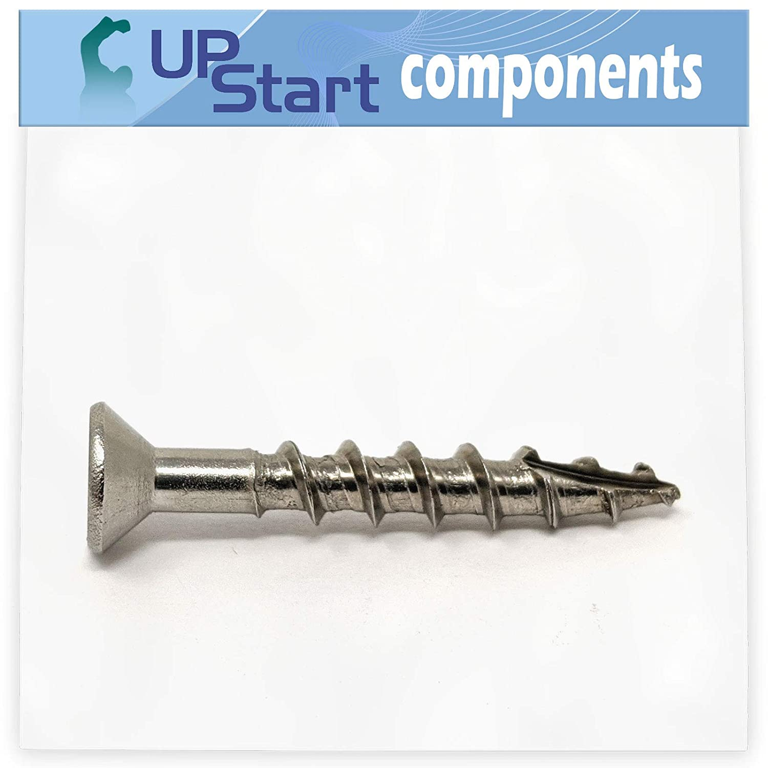 #8 x 1-1//4 Stainless Steel Deck Screws Self Tapping Square Drive Head Screws 25pcs Type 17 Wood Cutting Point