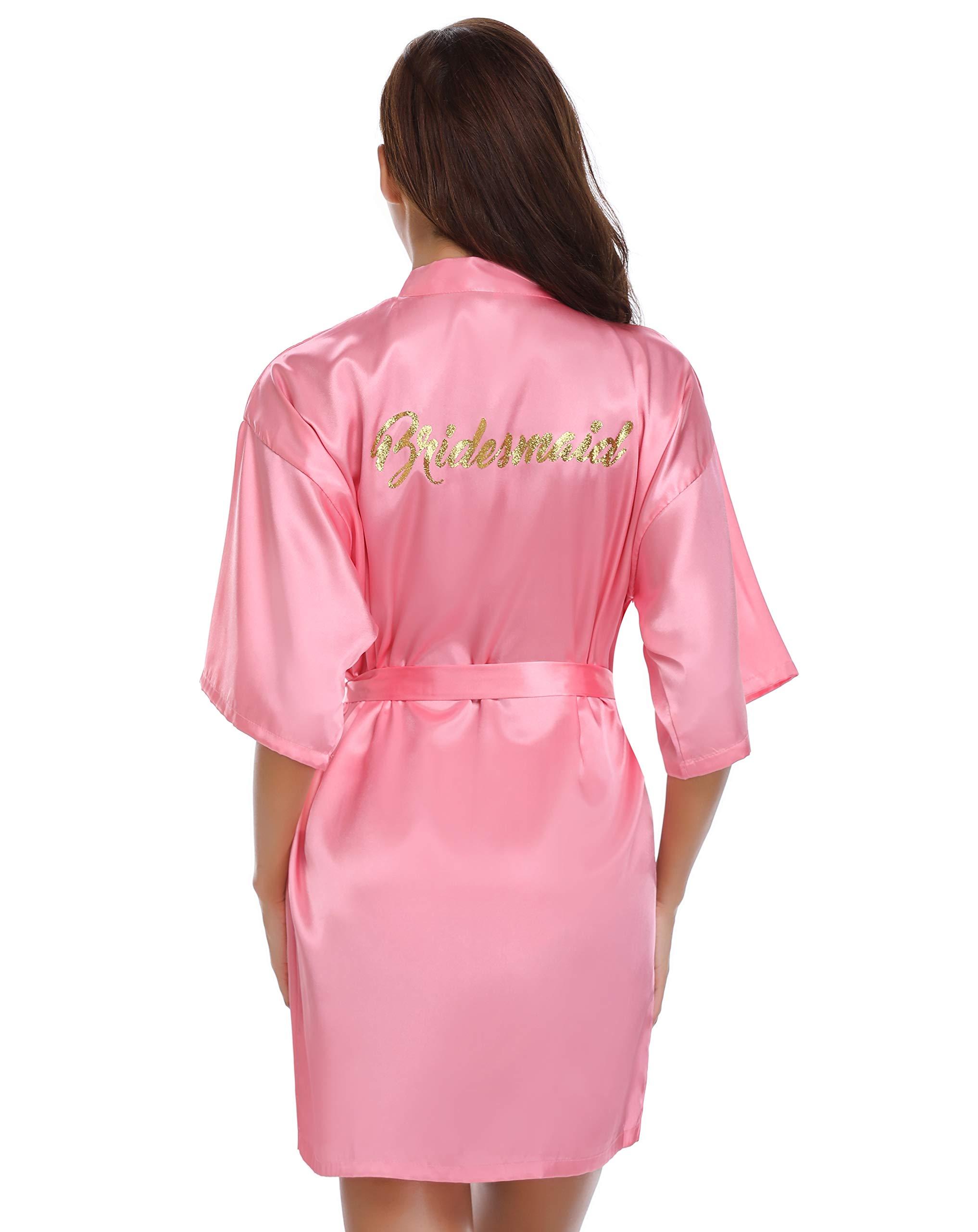 0450625b50 Vlazom Bride Bridesmaid Robes Silk Bride Party Robes Dressing Gwon ...