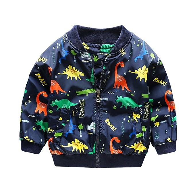 BBsmile Chaqueta niños Dinosaurio Lindo Abrigo de bebé Niños niñas Ropa de niños: Amazon.es: Ropa y accesorios