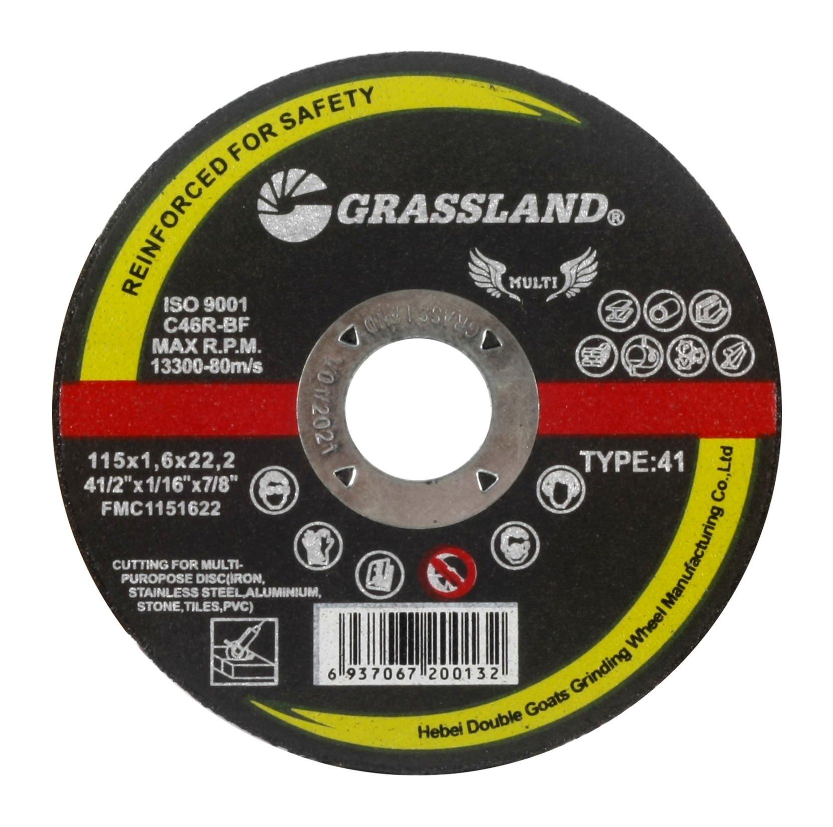 Cutting Disc, Multi-Purpose Freehand Cut-off wheel - 4-1/2'' x 1/16'' x 7/8'' - T41 - (30 PACK)