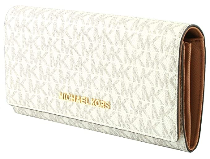 Michael Kors, Portafogli Avorio Vanilla large: Amazon.it