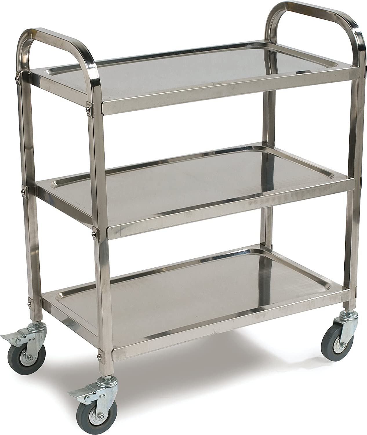 Carlisle UC4031529 Stainless Steel Knockdown Utility Cart, 400-Lb Capacity, 36-Inch X 15.75-Inch X 29.5-Inch, 3 Shelf