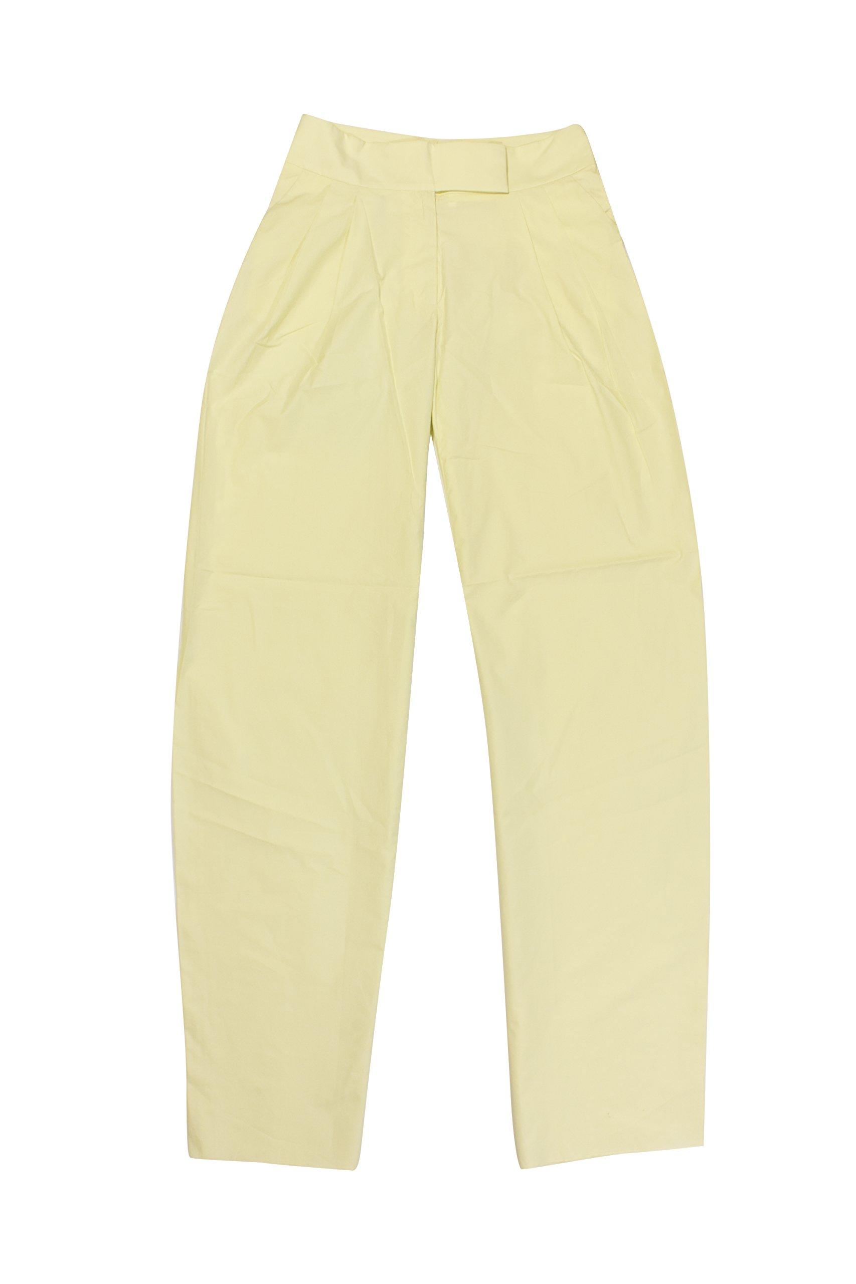 Salvatore Ferragamo Mint Green High Waist Pleated Pants 38