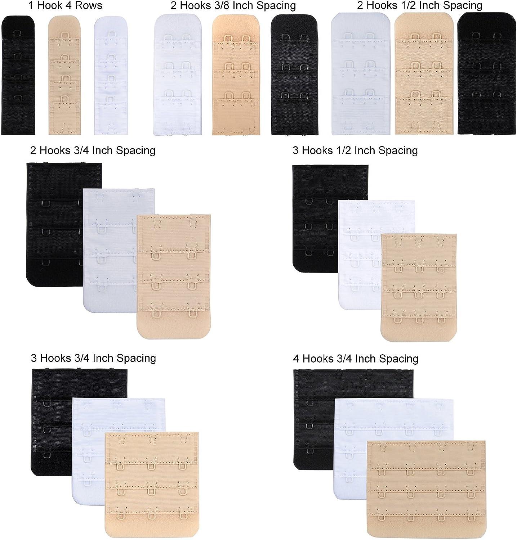 Multi-Size Opzionale Confezione da 3-21 pezzi Closecret Estensore di Reggiseno da Donna Nylon