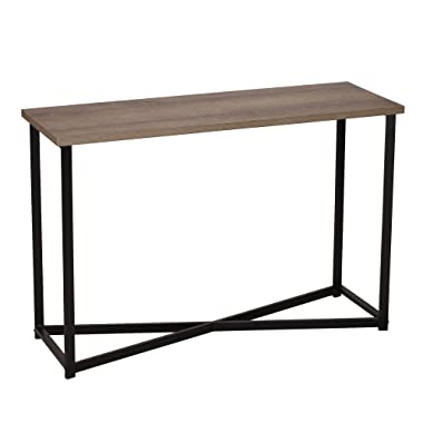 Household Essentials 8071-1 Ashwood Sofa Table | Console Table for Entryway | Gray-Brown