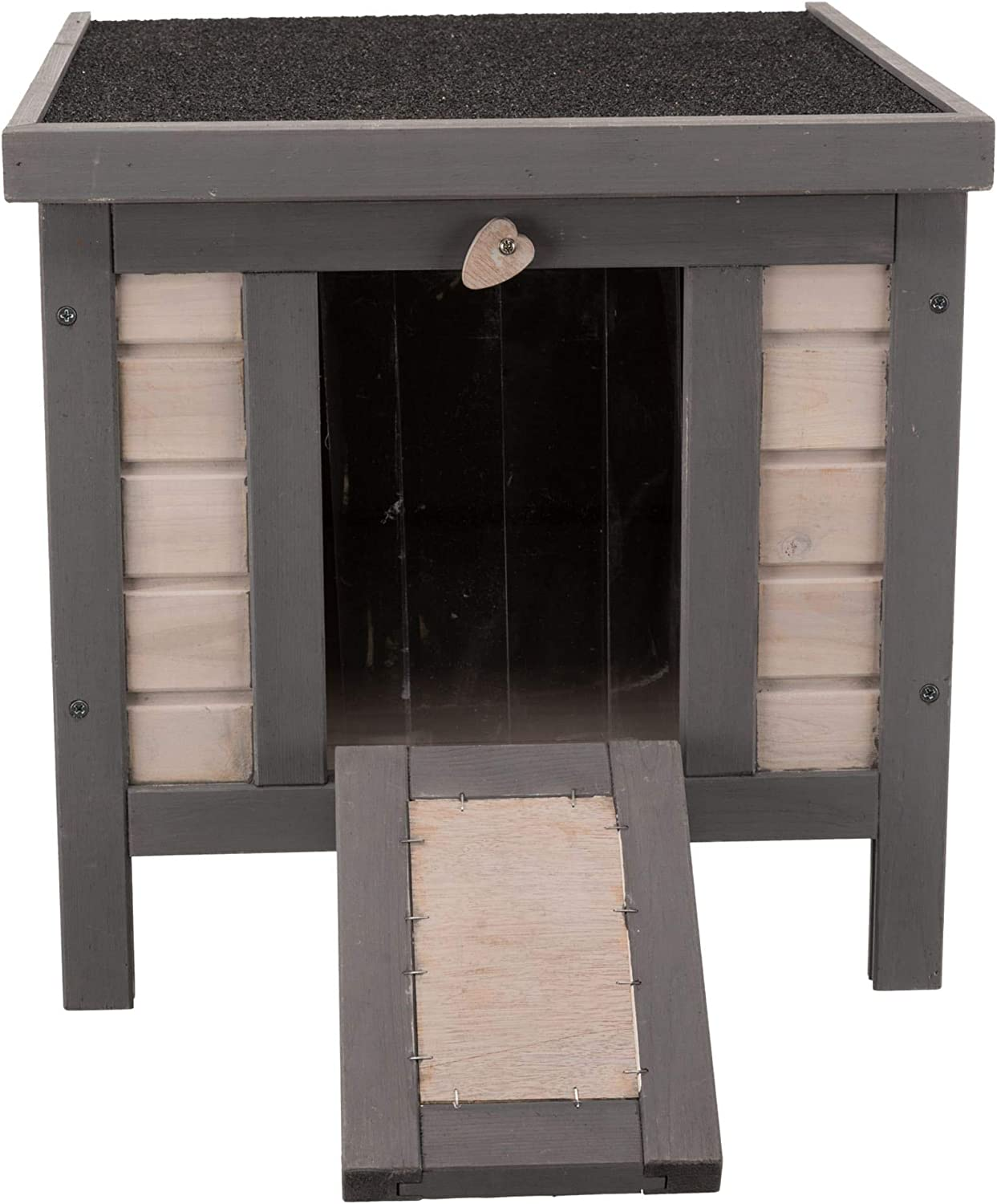 Trixie Natura Insulated Small Cat Home For Cold Season Gray Pet Supplies