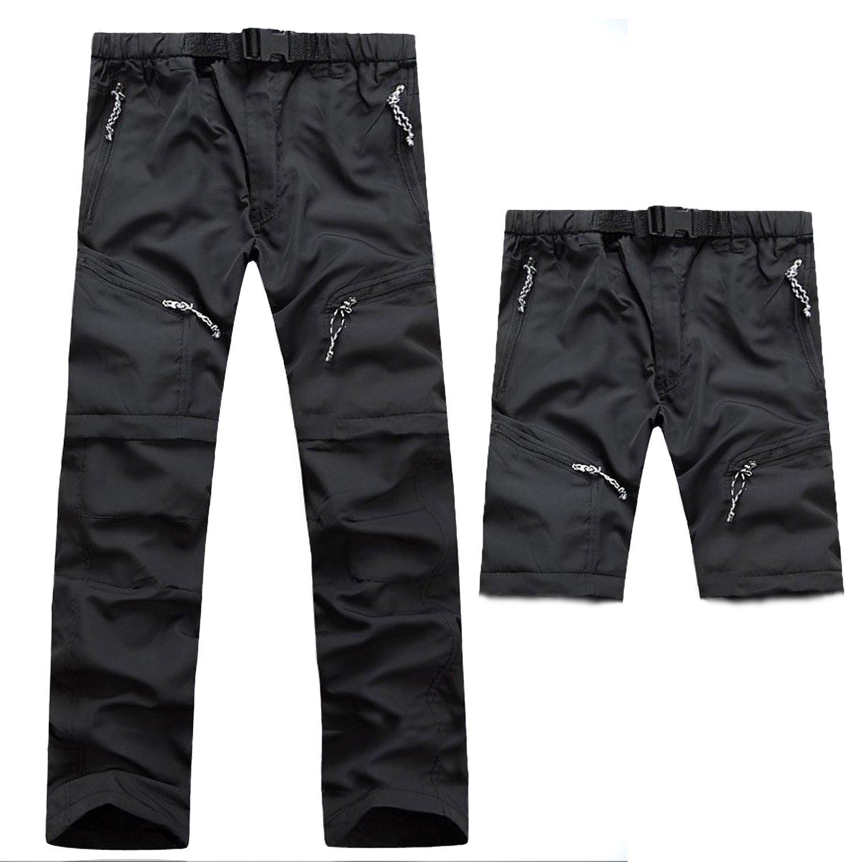 Naudamp Pantalones Cortos de Secado r/ápido para Hombres M/últiples Bolsillos Zip Off Convertible Caminatas al Aire Libre Senderismo Pantalones Deportivos