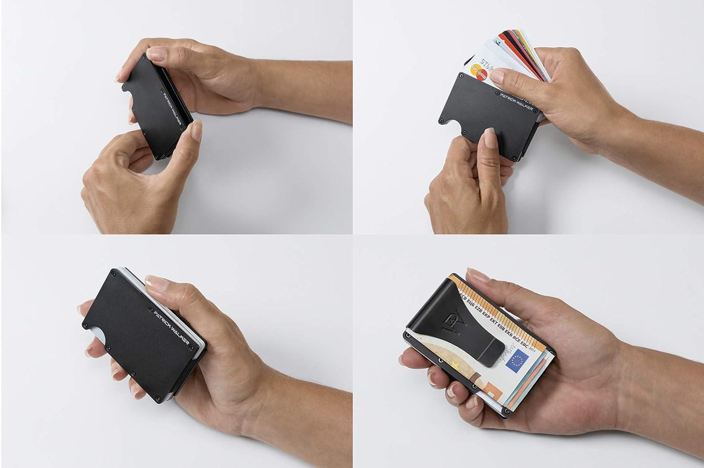 Schlankes Kreditkartenetui mit RFID-Schutz Geldbörse Kartenhalter Kartenetui
