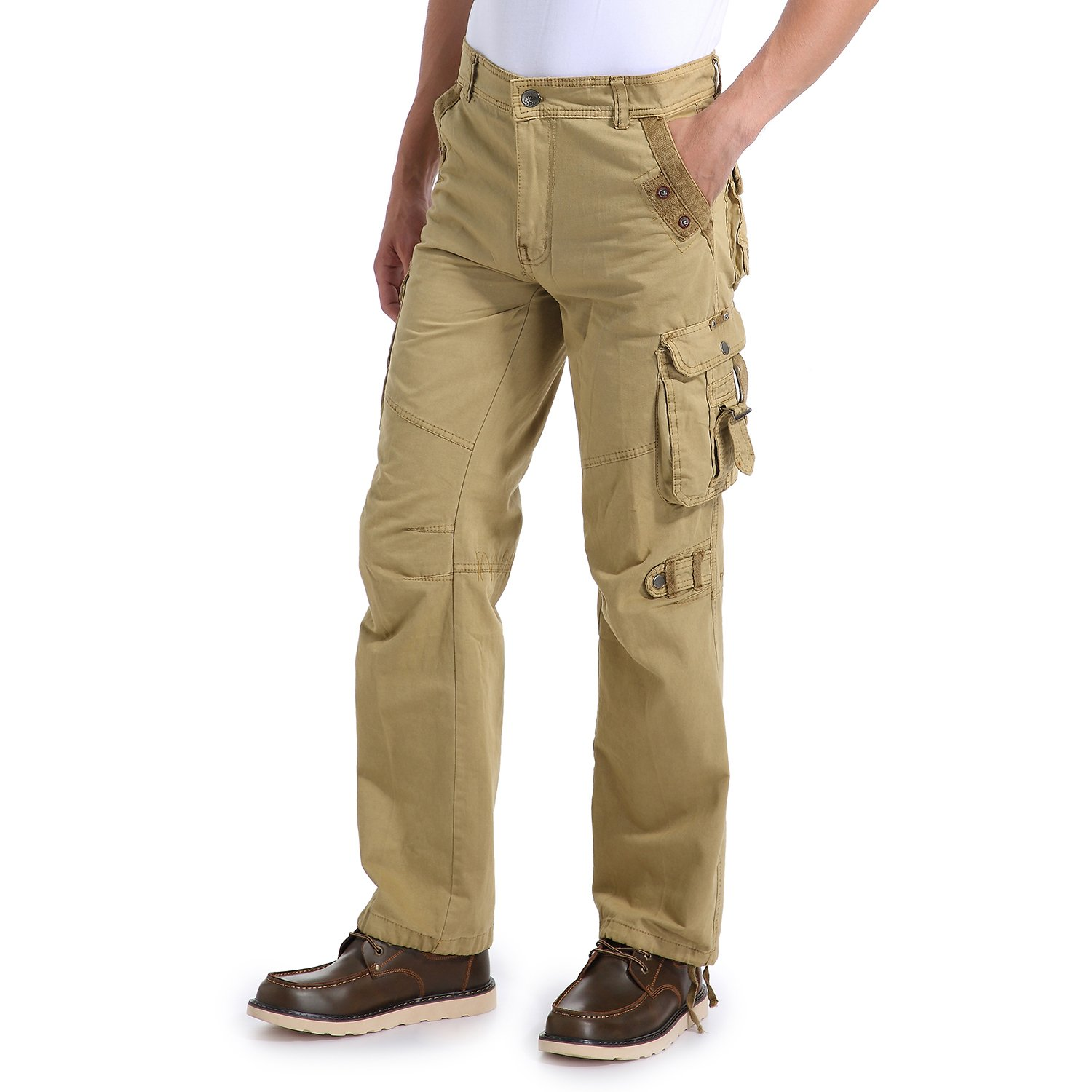 Eaglide Mens Regular-Fit Outdoor Tactical Pant,Men's Multi-Function Pockets Cotton Casual Cargo Pants