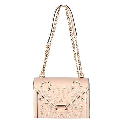 7fc1777913dc MICHAEL Michael Kors Whitney Large Embellished Leather Shoulder Bag - Soft  Pink: Handbags: Amazon.com