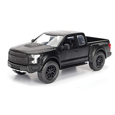 Jada 97756 2020 Ford F-150 Raptor Pickup Truck Matt Black 1/24 Diecast Model Car: Toys & Games