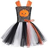Freebily Kinder Mädchen Halloween Kostüm mit Kürbis Muster Karneval Fasching Kostüm Tutu-Kleid Party Cosplay Bekleidung in Gr.92-140