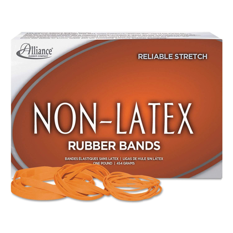 Alliance Non-Latex Rubber Bands Sz. 64 Orange 3 1/2 x 1/4 380 Bands/1lb Box