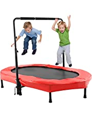 ANCHEER Kids Trampoline with Adjustable Handle for Two Kids, Parent-Child Trampoline Exercise Indoor or Outdoor (Age 3+)