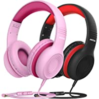 Mpow CH6 [2 Pack] Kids Headphones with Safety 85dB Volume Limited, Wired On-Ear Headsets for Kids, Food Grade Silicone…