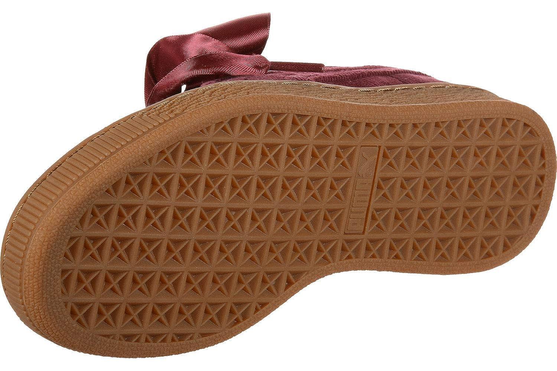 Puma Chaussure Basket Heart Corduroy pour Femme Pomegranate Pomegranate 8.5