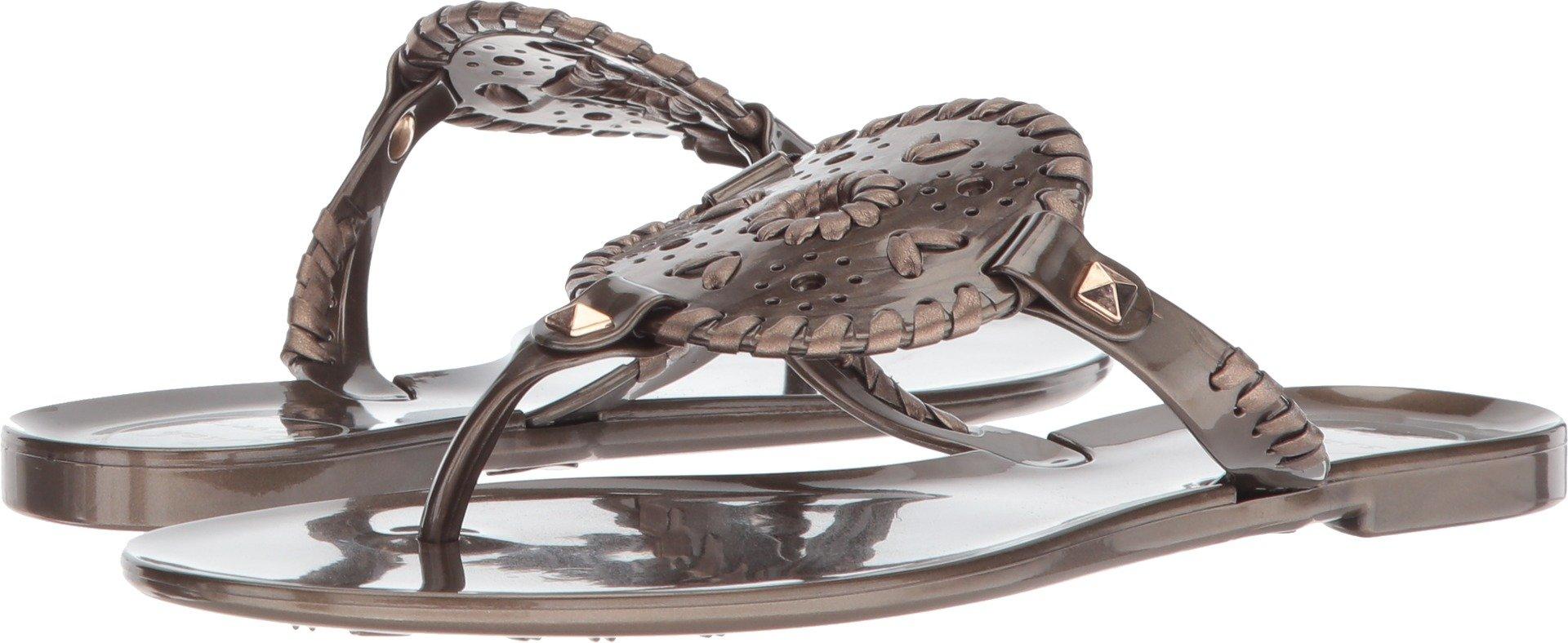 Jack Rogers Women's Georgica Jelly Flat Sandal, Bronze, 9 Medium US