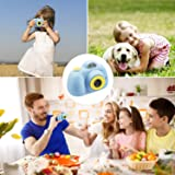 omzer Kids Toys Camera for 3-6 Year Old Girls Boys, Compact Cameras for Children, Best Gift for 5-10 Year Old Boy Girl 8MP HD Video Camera Creative Gifts,Blue