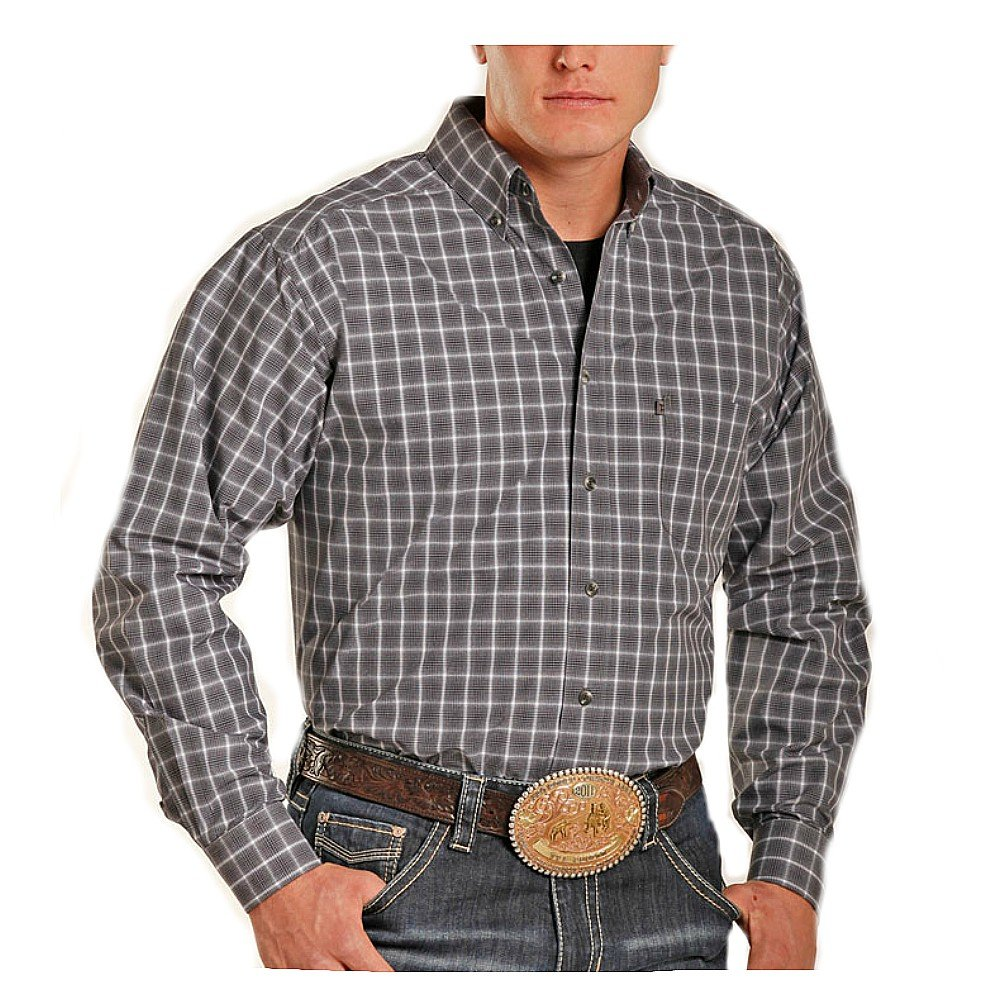 Panhandle Tuf Cooper by Competition Long Sleeve Western Button Down Shirt