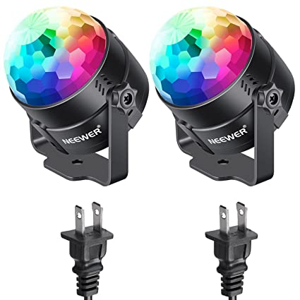 Latest Collection Of Sound Activated Party Lights With Remote Control Dj Lighting Rbg Disco Ball Strobe Lamp 7 Modes Stage Par Light For Home Room