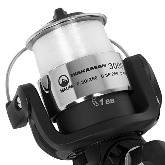 Amazon Com Wakeman Strike Series Spinning Rod And Reel Combo
