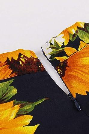 BABYONLINE D.R.E.S.S. Sukienka koktajlowa z krÓtkim rękawem i dekoltem w kształcie litery V, rozmiar S-4XL: Odzież