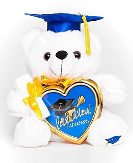 Amazoncom 12 Graduation Teddy Bear Plush With Blue Cap And