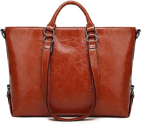 Femmes Vintage en Cuir Véritable Marron Shopping Fourre-tout Épaule Fait Main Sac