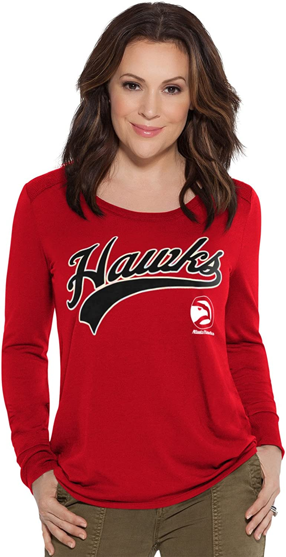 Red Touch by Alyssa Milano NBA Atlanta Hawks Adult Women Redzone Top Large