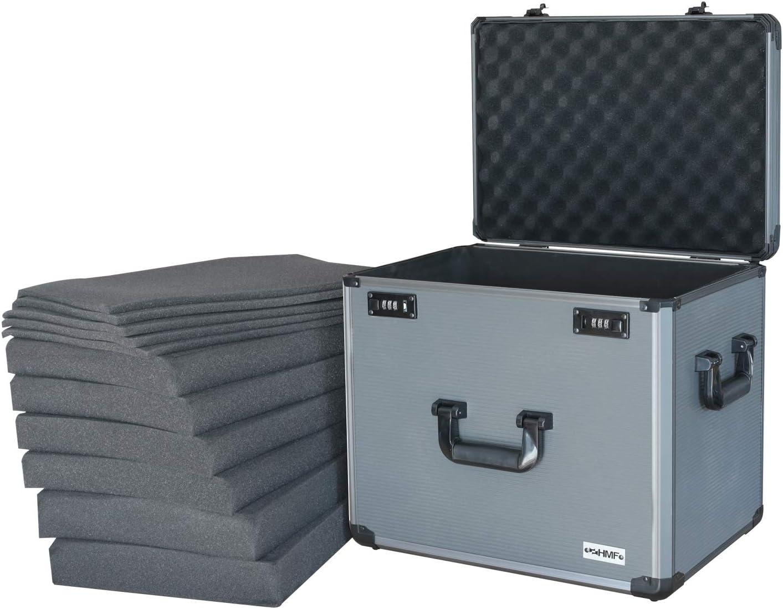 HMF 14422-02 Maletín de Aluminio con Espuma para Cámaras de Fotos y Miniaturas | 46 x 33 x 41 cm