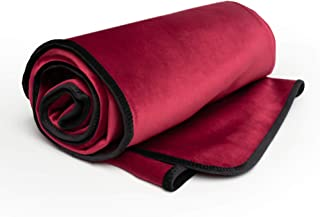 product image for Liberator Decor Fascinator Throw - Moisture Proof Sensual Blanket, Merlot Microvelvet