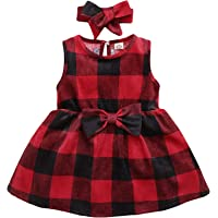 GRNSHTS Baby Girls Clothes Summer Floral Deer Sleeveless Christmas Dresses Outfits Set
