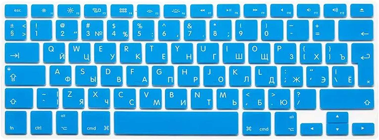 Russian Silicone Euro EU Keyboard Silicone Keyboard Cover for MacBook Air Pro Retina 13 15 17 for Mac Book Laptop Skin-Silver