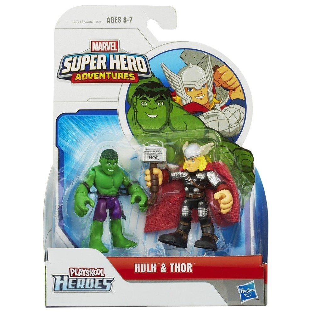 Avventure Di Super Eroe Marvel Confezione Da 2 Pezzi Hulk E Thor
